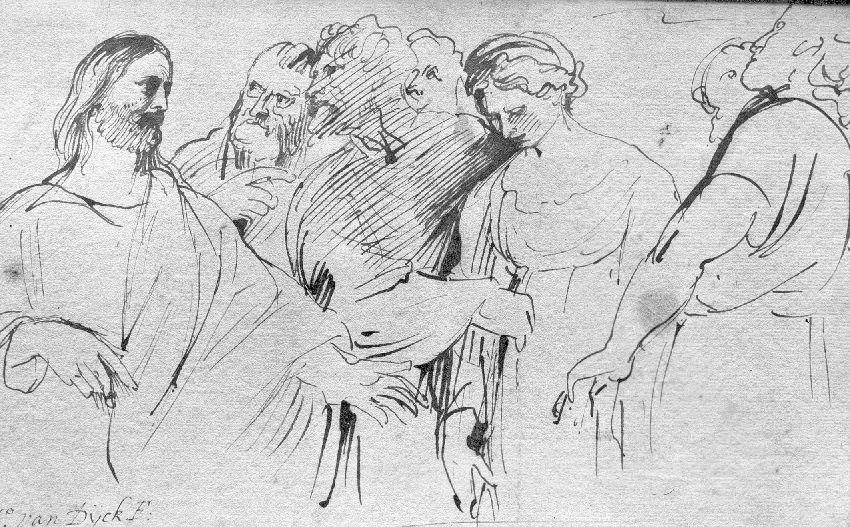 A116767 Christus en de overspelige vrouw