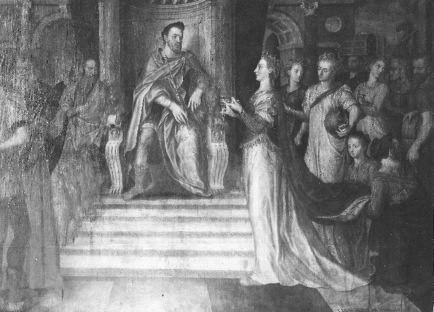 B024931 Bezoek van de koningin van Sabo aan Salomo