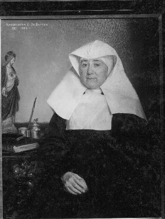 B036628 Portret van Grootjuffer E. De Sutter