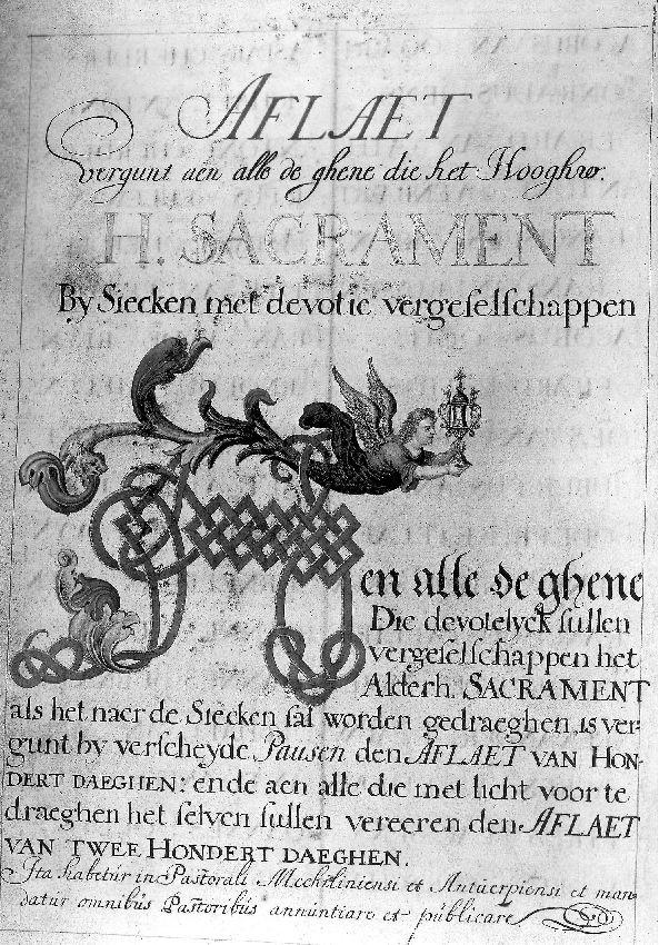 B106975 Gulden Boek van Broederschap van Veertiendaagse Berechting
