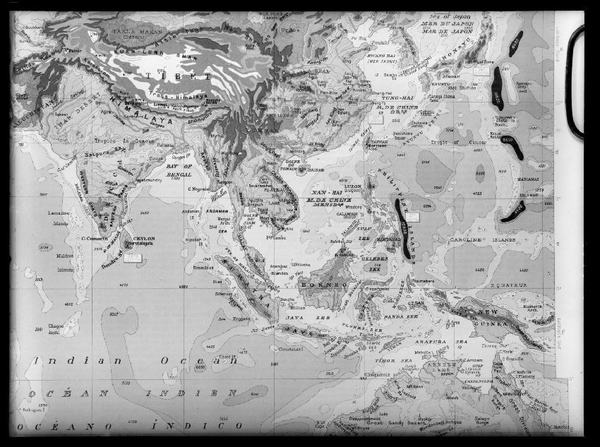 B163306 Carte des Indes et de l'Océan indien