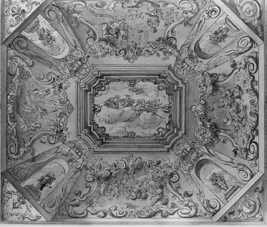 B173403 Ontwerpschildering voor een plafond