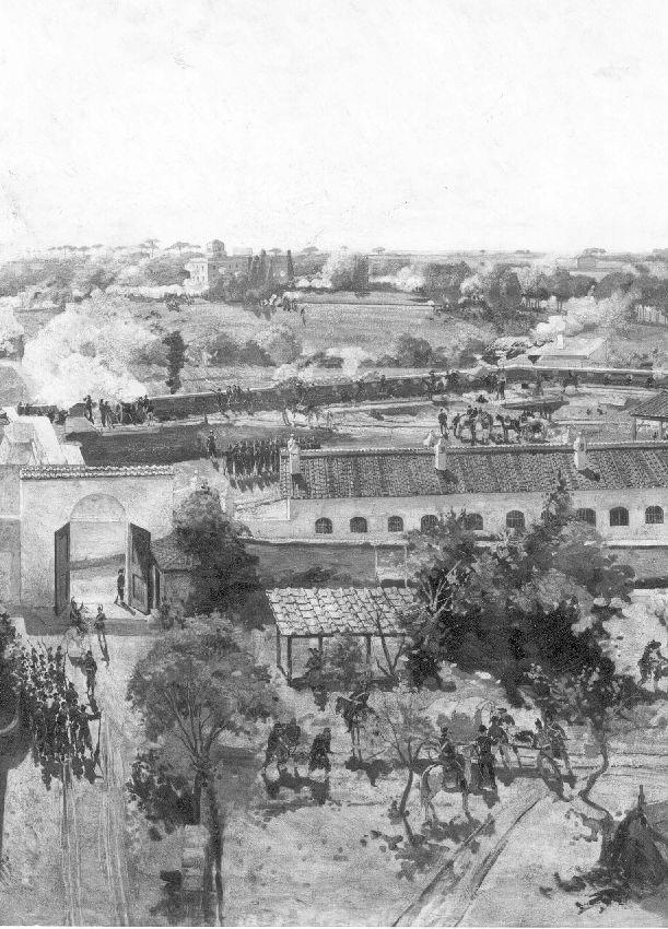 M275339 Rome prise par Garibaldi le 3 juin 1849 (panneau nº 12)