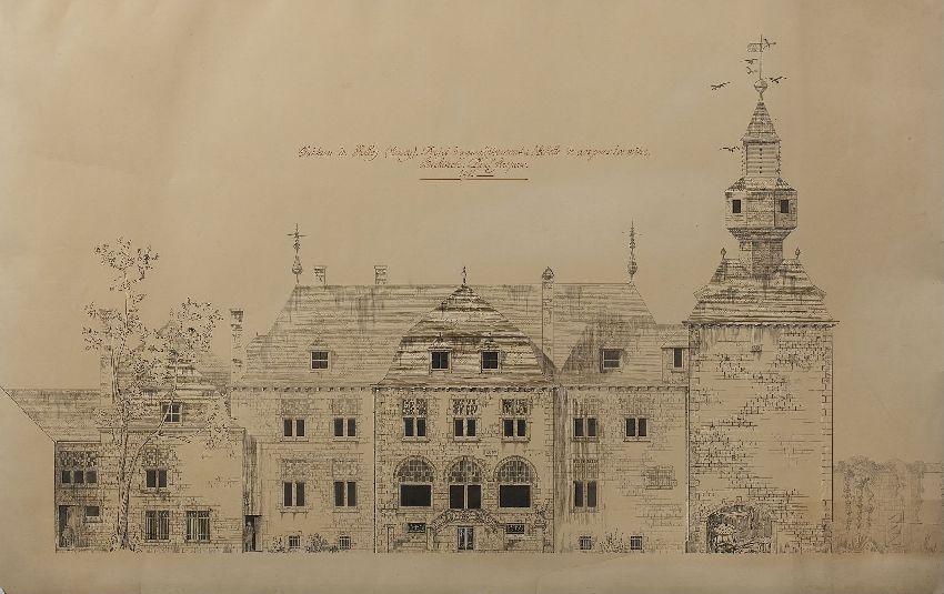 X017364 Château de Halloy (Ciney) : projet d'agrandissement