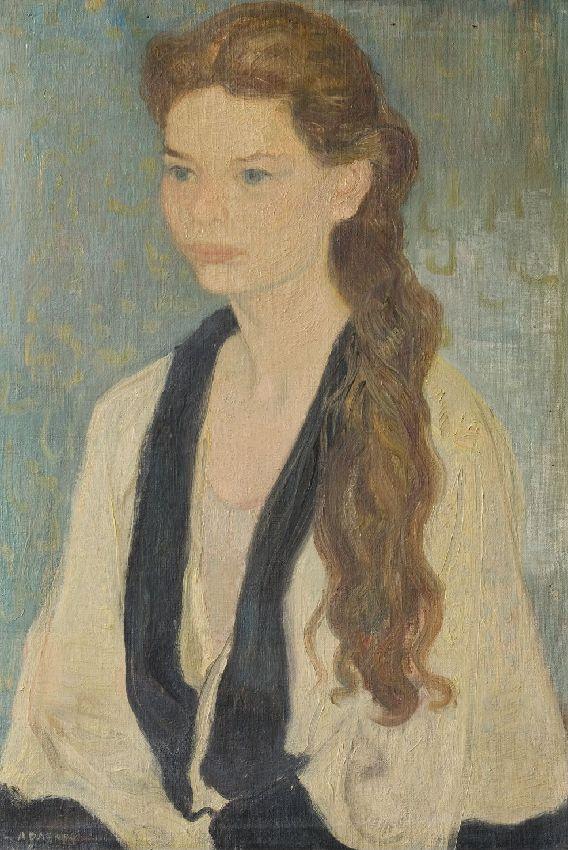 X041447 Potret van een jong meisje Portrait de jeune fille